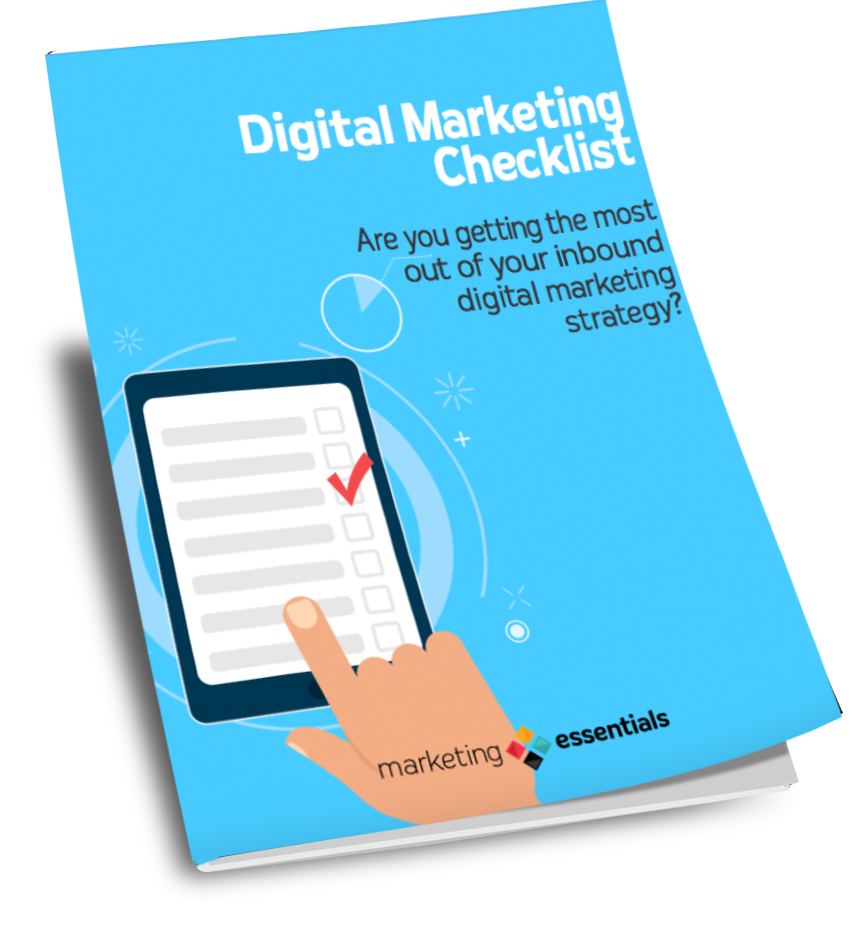 digital marketing checklist cover